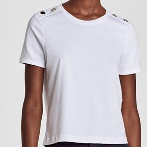 Zara Tops - Zara Metal Button T-shirt NEW